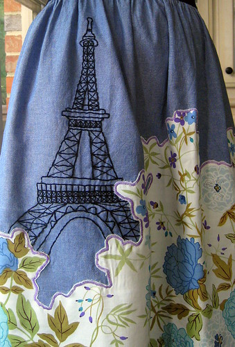 Embroidered Eiffel Tower
