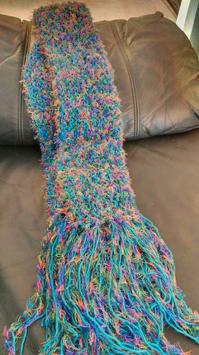 Yay, finished scarf!