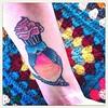 My bluebird of happiness. #tattoo #bird #cupcake #portland