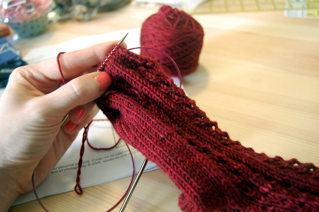 Finishing a Duckie sock