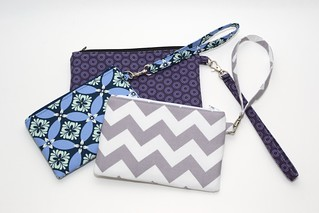 Zippy phone/passport wristlets