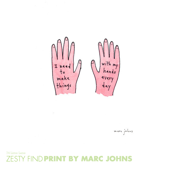 {zesty find} print by marc johns