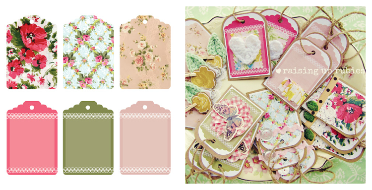 freep pretty vintage printables tags ♥ raising up rubies