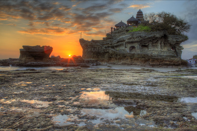 Sunset at Tanah Lot, Bali Indonesia