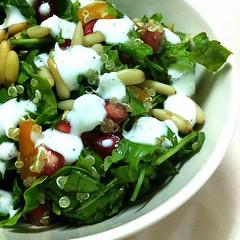My healthy salad, Pin seeds,  Arugula leaves, yummmy #salad #ramadan