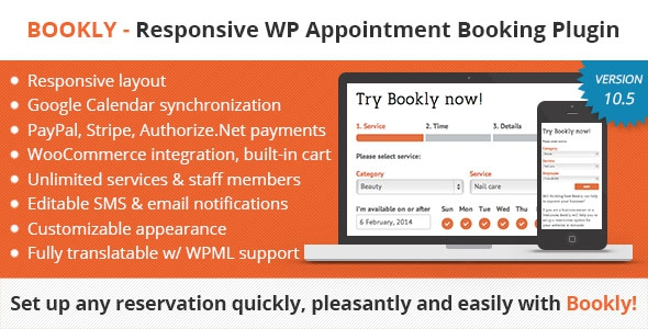 Bookly Booking Plugin v10.11 - Responsive Appointment Booking and Scheduling