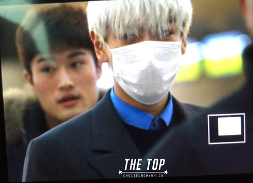G-Dragon & TOP - Incheon Airport - 30jan2015 - TOP - The TOP - 04
