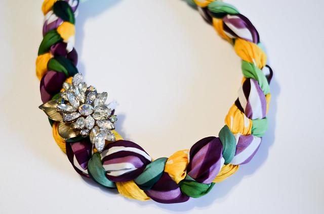 DIY Braided Scarf Necklace | ReVamp