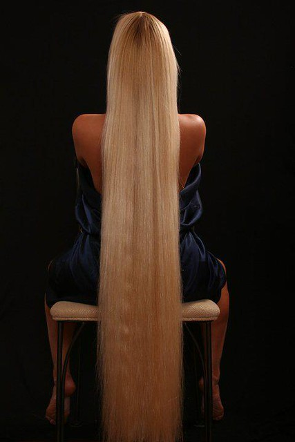floor length blonde hair - photo #3