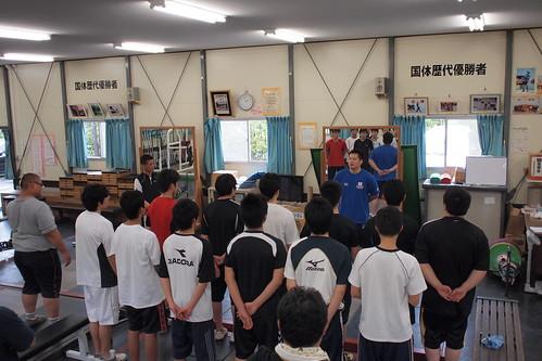 平岡勇輝選手による高校生選手に対する技術講習会