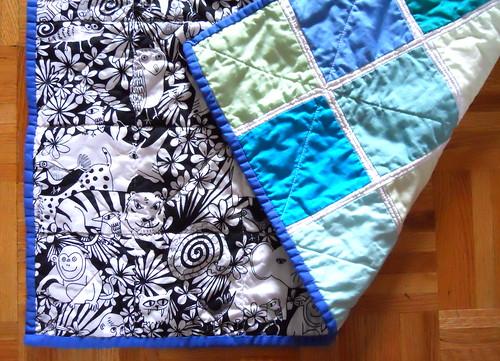 detail, Poseidan baby boy quilt