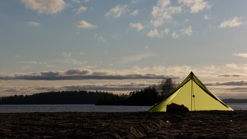 Locus Gear Khufu Sil pitched on sand