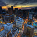 Downtown Vancouver sunset by Basic Elements Photography