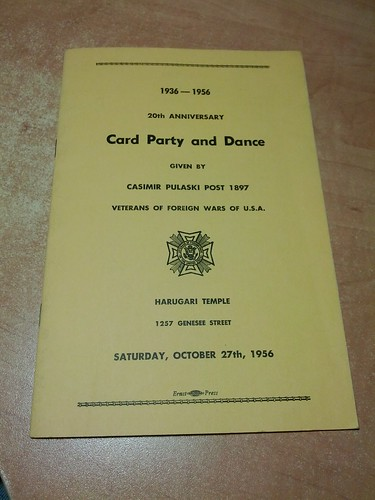 1956 Card party Booklet