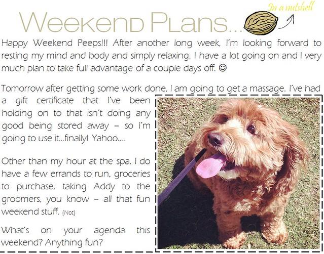 weekend plans 5.4.12