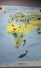 World map Africa and Europe