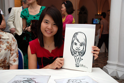 caricature live sketching for Intel Mobile Communications Year-End celebrations - 6