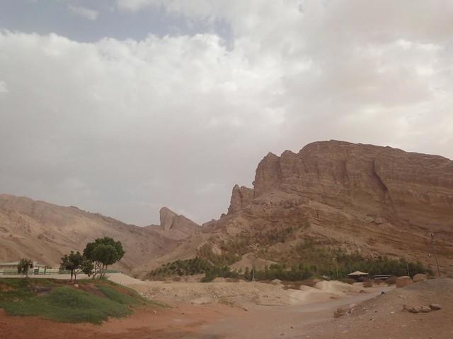 A Montanha Jebel Hafeet em Al Ain, Abu Dhabi, Emirados Arabes Unidos