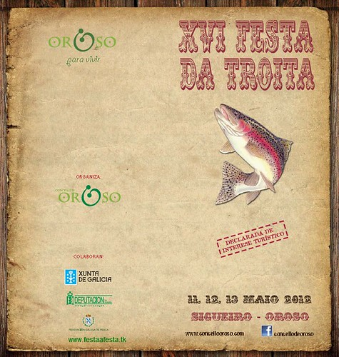 Oroso 2012 - Festa da troita de Sigüeiro - cartel