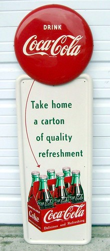 1952 Coca Cola 6-Pack Pilaster Sign by beachsideapparel