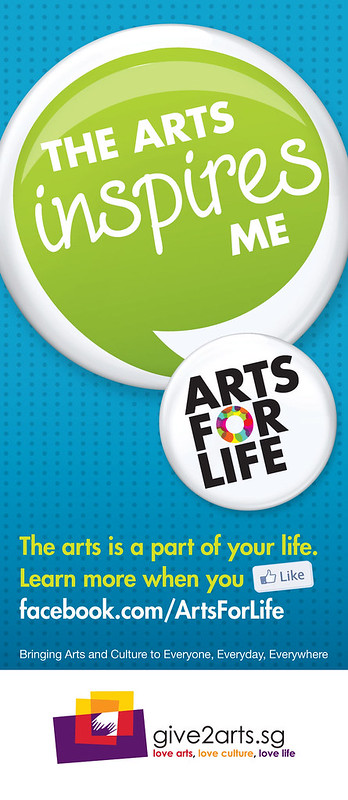 Arts For Life campaign banners