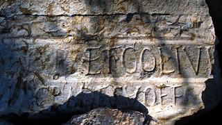 Latin Writing on the Wall