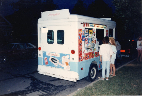 A nice night for an ice cream treat.  Chicago Illinois. July 1987. by Eddie from Chicago