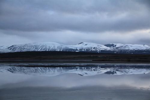Reflected in Semi-Frozen Water