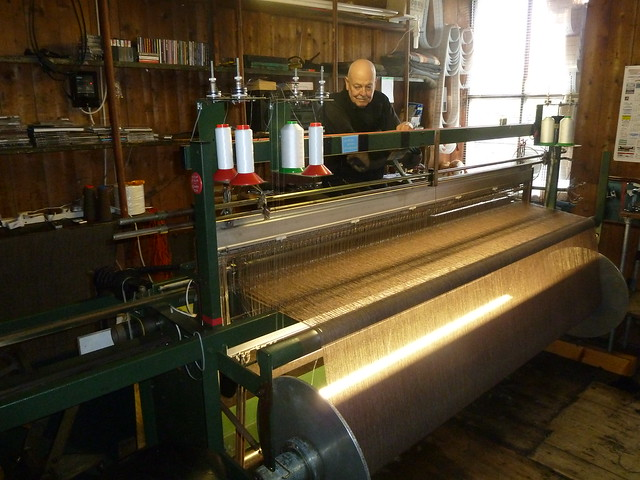 Harris Tweed Weaver at Work