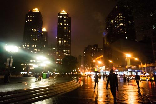 Evening rain, Union Square