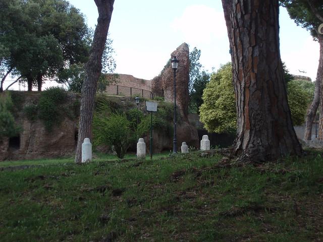 Part of Nero's Domus Aurea (I think) in Trajan's Park