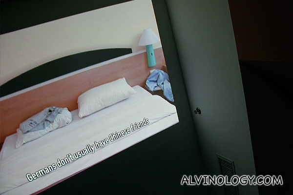 I had to lie in bed to watch the video of the Berlin chambermaid