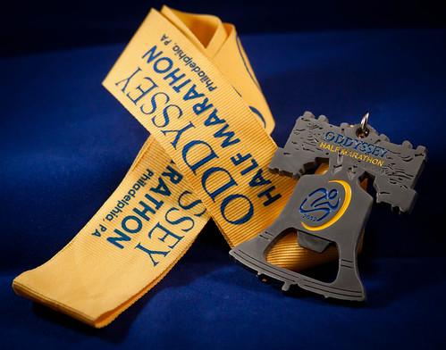 2012 Oddyssey Half Marathon Finisher Medal