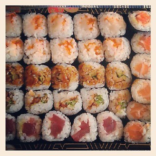 It's too hot to cook - sushi time!
