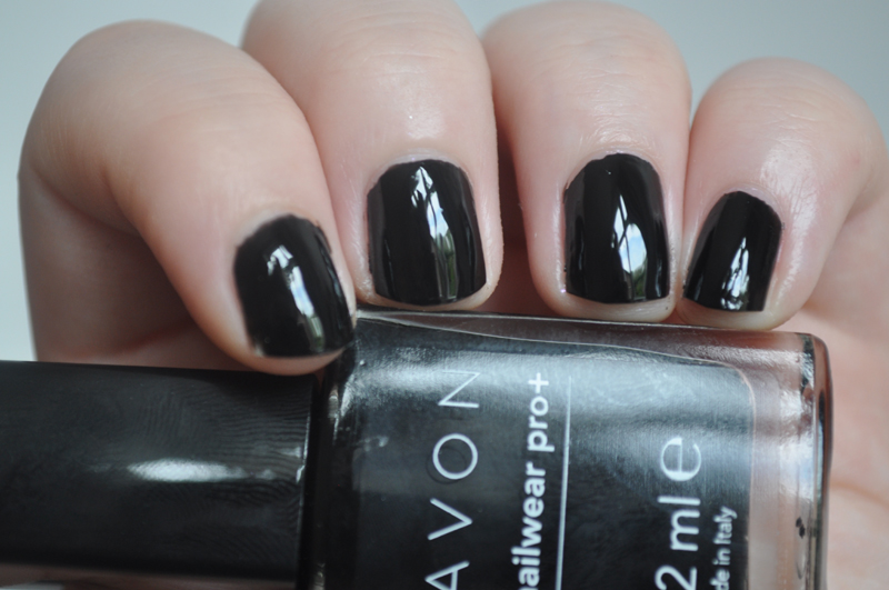 avon nailwear pro+ licorice notd nail polish