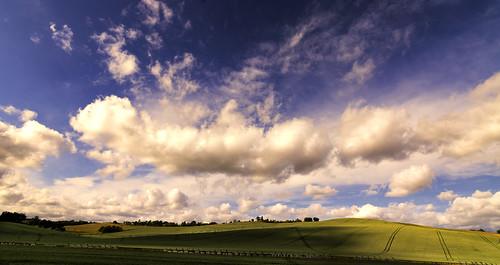 [フリー画像素材] 自然風景, 空, 雲, 田園・農場, 風景 - フランス, パノラマ ID:201206041200
