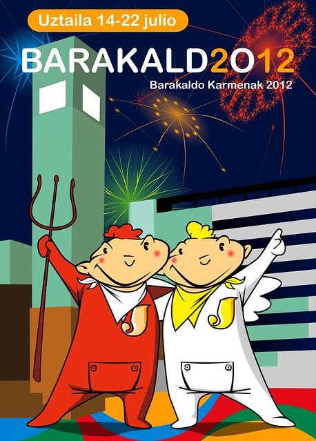 Cartel ganador concurso de carteles fiestas de barakaldo Karmenak 2012