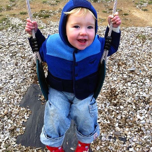 Winter Swing. #hoodie #smile