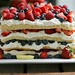 Triple Berry Layered Lemon Cream Cake