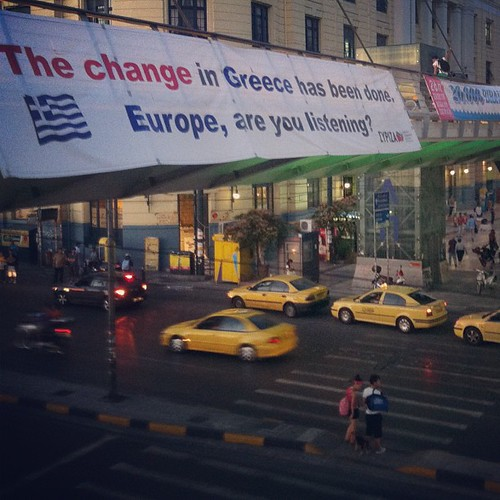 """The change in Greece has been done. Europe, are you listening?"" —SYRIZA"