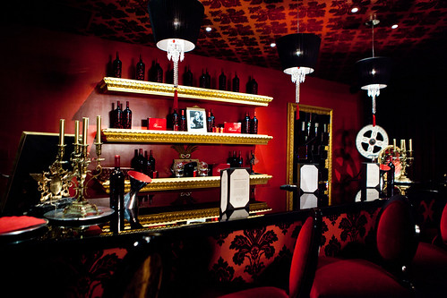 Inside the Red Room (an insider's club room) of Raymond Vineyards