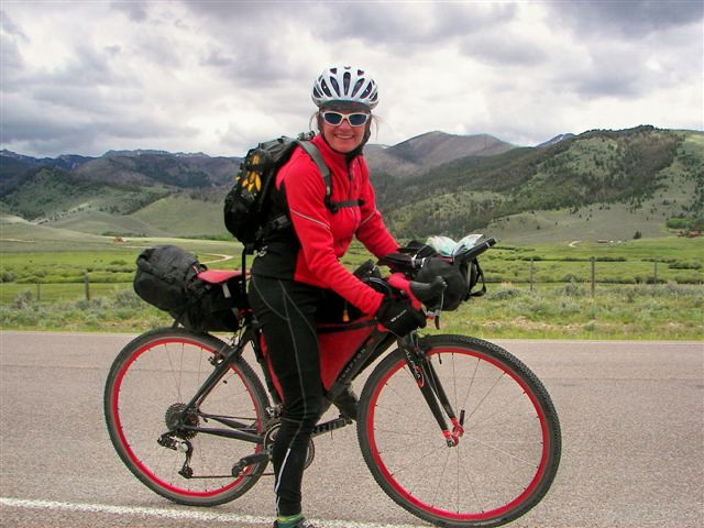 Jo Ann B on Pioneer Mountain Scenic Byway- Tour Divide