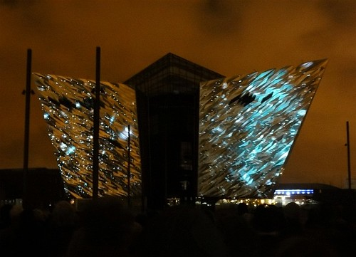 Titanic Belfast Light Show 09