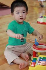 楽器を演奏するとらちゃん (2012/6/23)