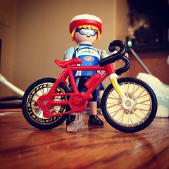 My New Playmobil Cyclist