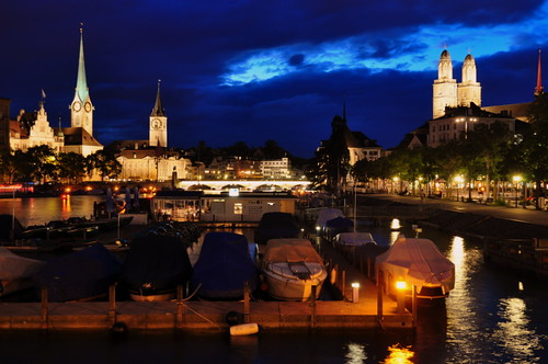 Zurich night view by ramadhonasaville