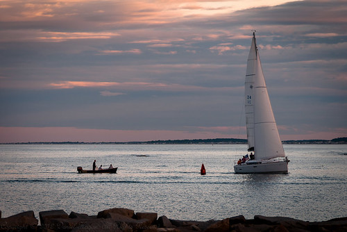 Putting Into Scituate Harbor by Daniel Hagan