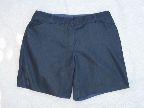 Denim shorts flat front