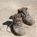 My pair of Columbia hiking boots after 3 days of hiking in Mt Rinjani, Lombok, Indonesia by ted adnan