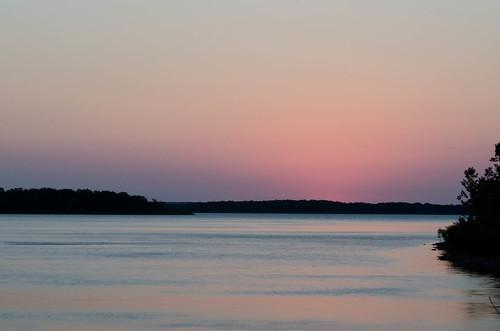 light sky lake water sunrise stockton stocktonlake